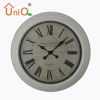 Round big modern home decor metal wall clock