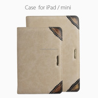 Best quality new design special pu&genuine leather case for ipad/mini