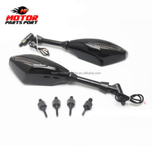 Motorcycle Black Turn Light LED signals Lights Side Mirror