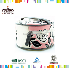 Round large cosmetic bags with compartments