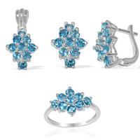 Designer pendent sets in blue topaz For direct factory sale
