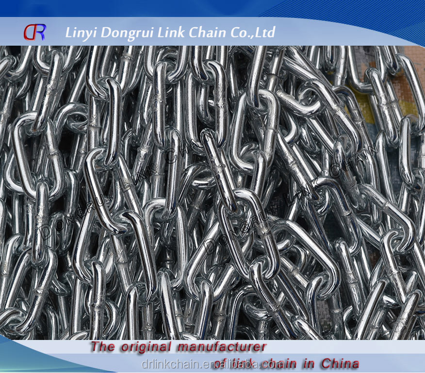 British standard galvanized long link chain