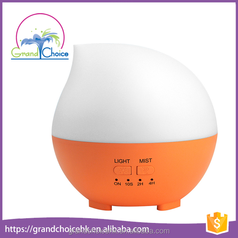 glass dome with base with led lights bamboo glass aroma diffuser