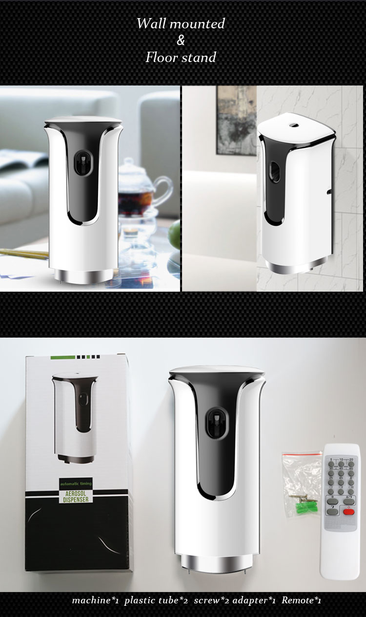 Remote control air freshener dispenser toilet refill wall mounted aerosol spray dispenser
