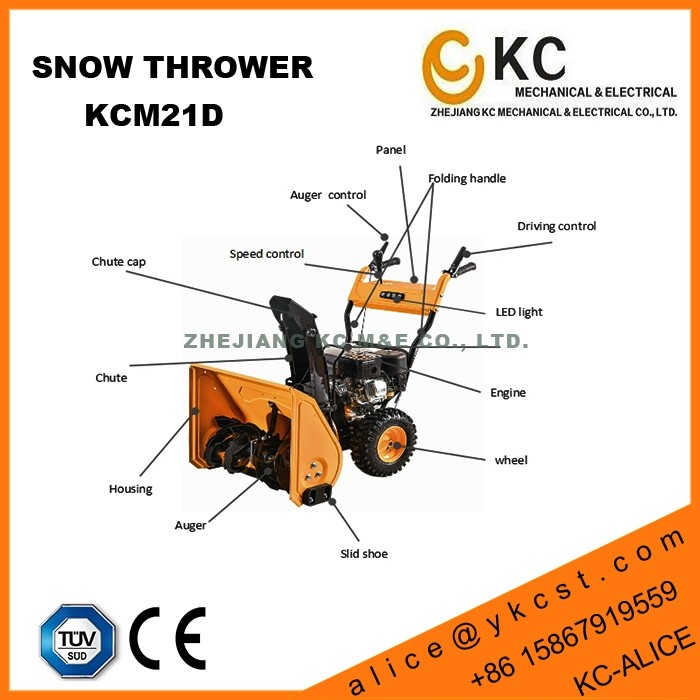 High quality loncin snowblower for home, small lot available