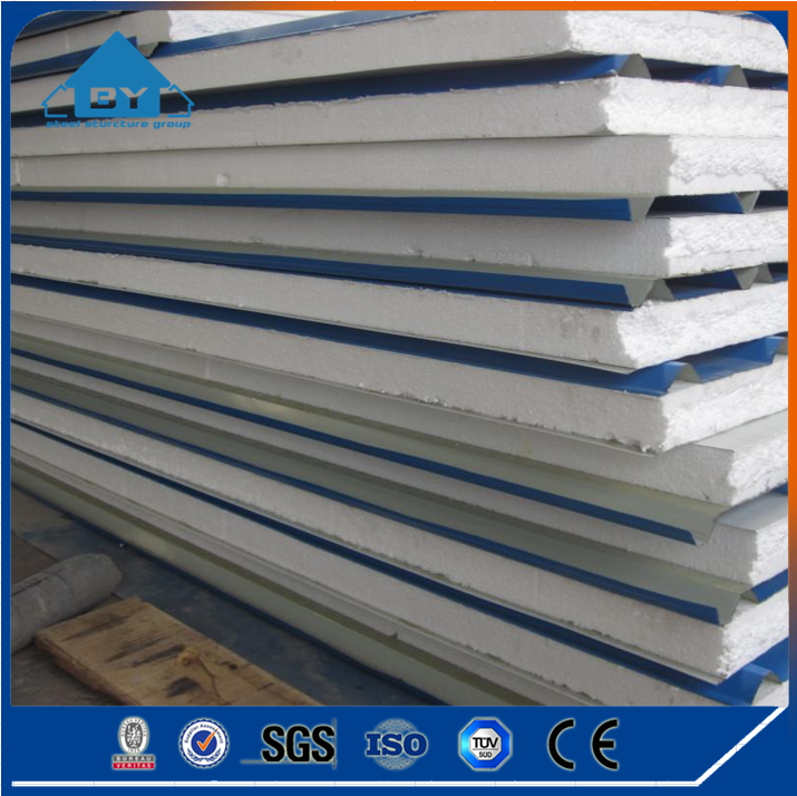 China Manufactory Low Cost Wall Roof MGO Prefabricated EPS Sandwich Panel For Sale