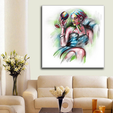 2017 Pop Single Pannel Sexy Nude Girl Printing on Canvas without frame For Wall Decor