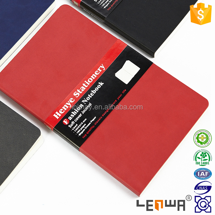 Soft Cover PU Leather Elongated Journal Notebook
