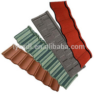 Colorful wholesale stone coated steel roof maroon roofing tiles shingles