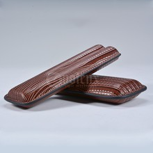 shiny LIZARD PU leahter travel 2 CT cigar case