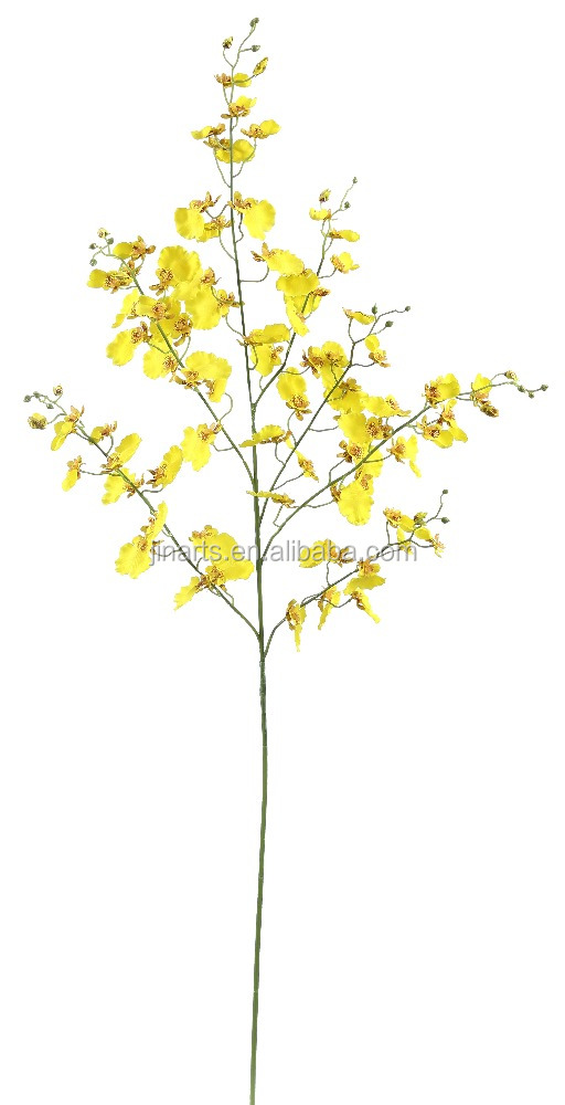 "44"" oncidium spray artificial wholesale flowers"