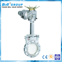 BZ973 Series DN250 electric Stainless Steel knife gate valve