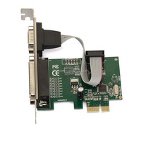 High Quality PCIE Two Serial Port Parallel Interface sound card with CH382L Chipset
