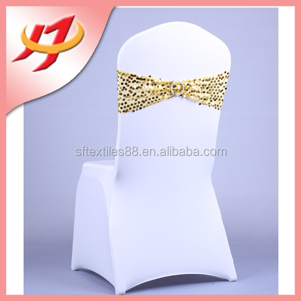 Spandex lycra chair band polyester banquet wedding wholesale cheap chair cover sashes