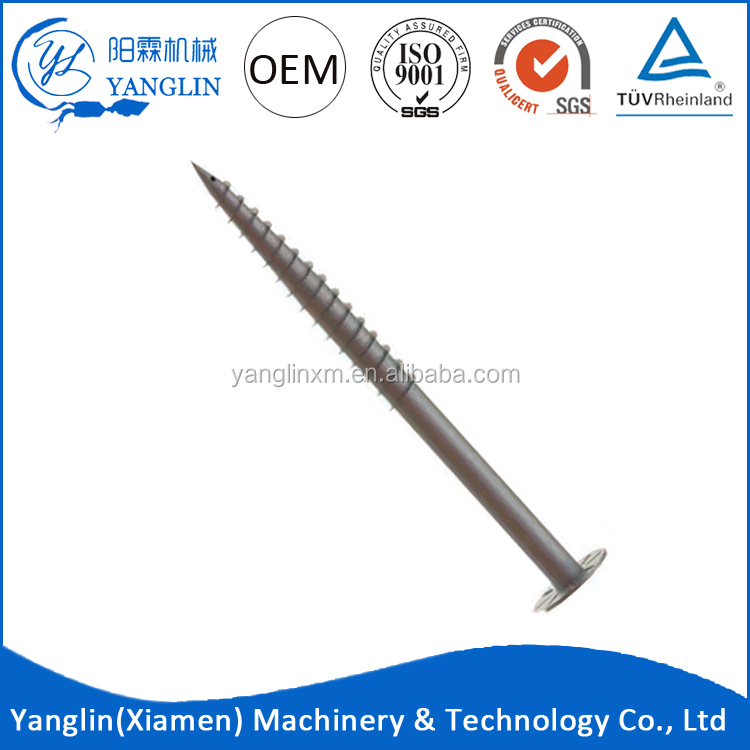 Galvanized Q235 Piles Ground Screw For Solar Panel Mounting