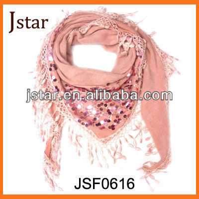 Hot selling promotional scarf with sequin