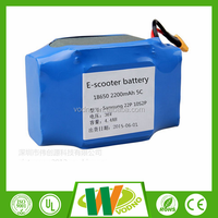 36v 4.4Ah rechargeable lithium battery for replace the self-balancing scooter battery