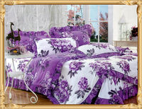 100% polyester pigment printed bedsheet/mattress fabric /bed cover fabric