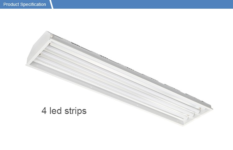 high quality indoor basketball court 120w 180w 200w suspended linear lamp 347V industrial warehouse emergency led high bay light