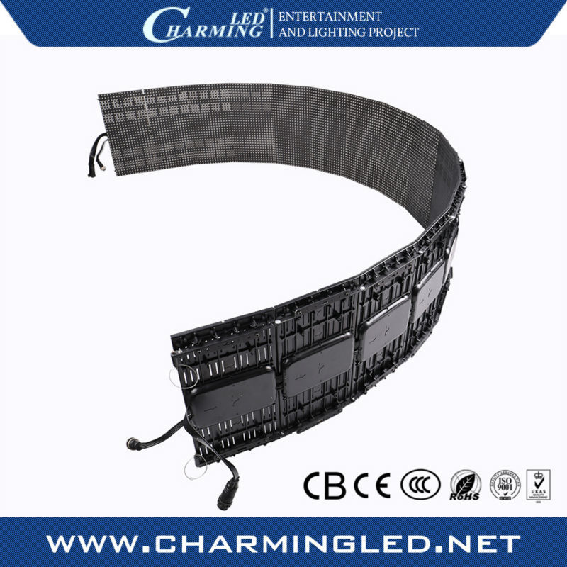 Transparent soft/flexible/foldable/folding led curtain display screen for concert stage