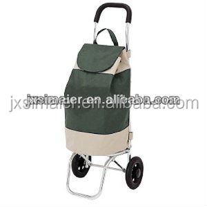 Hot sell supermarket folding shopping trolley with bag
