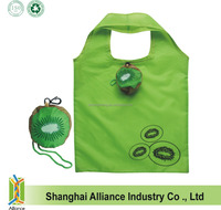 190T Polyester Grocery Actinidia Shopping Tote Bag in Kiwi Fruit Shape