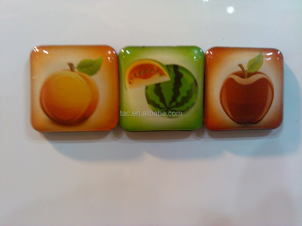 Advertisng acrylic fridge magnet wholesale China supplier/tourist souvenir epoxy fridge magnet