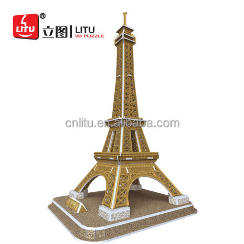 3D PUZZLE MODEL MINI EIFFEL TOWER BEST EDUCATIONAL GIFT