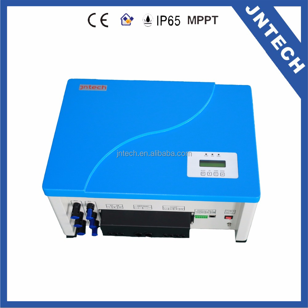 Jntech 3kVA solar MPPT charge controller hybrid PV off-grid inverter with AC by-pass