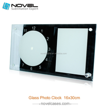 Blank 3D Sublimation coated Rectangle Shape Mirror Side Glass Clock Frame