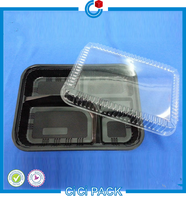 2016 meal prep and dessert container food grade small disposable plastic food tray
