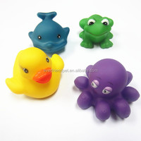 little cute animal baby bath toys water jet tub town bath toy
