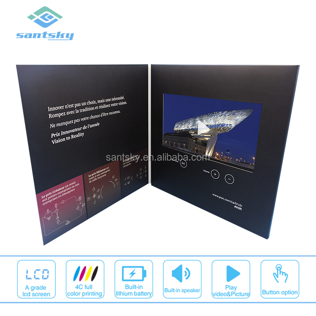 Custom Full Color Printing Video Mailers Temporary Video Book Video Player