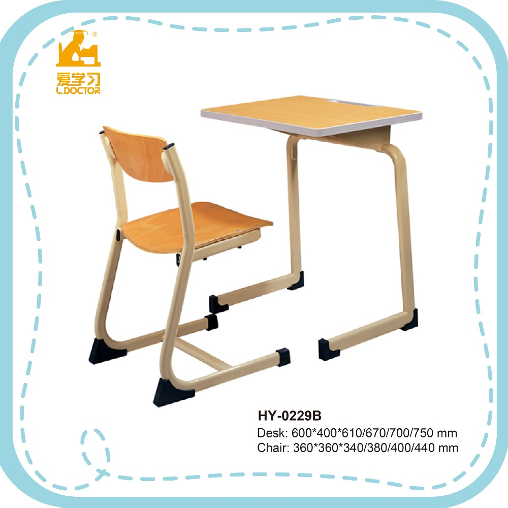 Wholesale price school furniture, used wooden desk and chair for sale