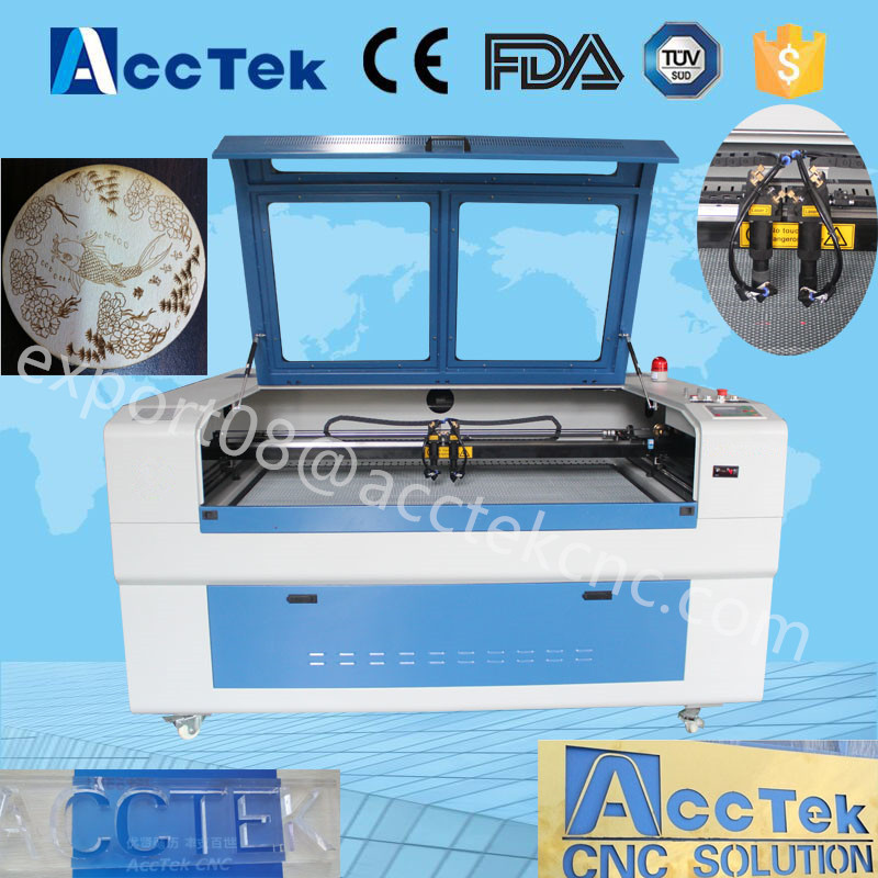 <strong>g</strong> code laser engraving machine AKJ1410 CO2 laser engraver stone engraving machine for sale