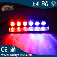 High Power 12V DC Motorcycly LED Police Emergency Lights Red Blue Warning Flashing Light Lamp