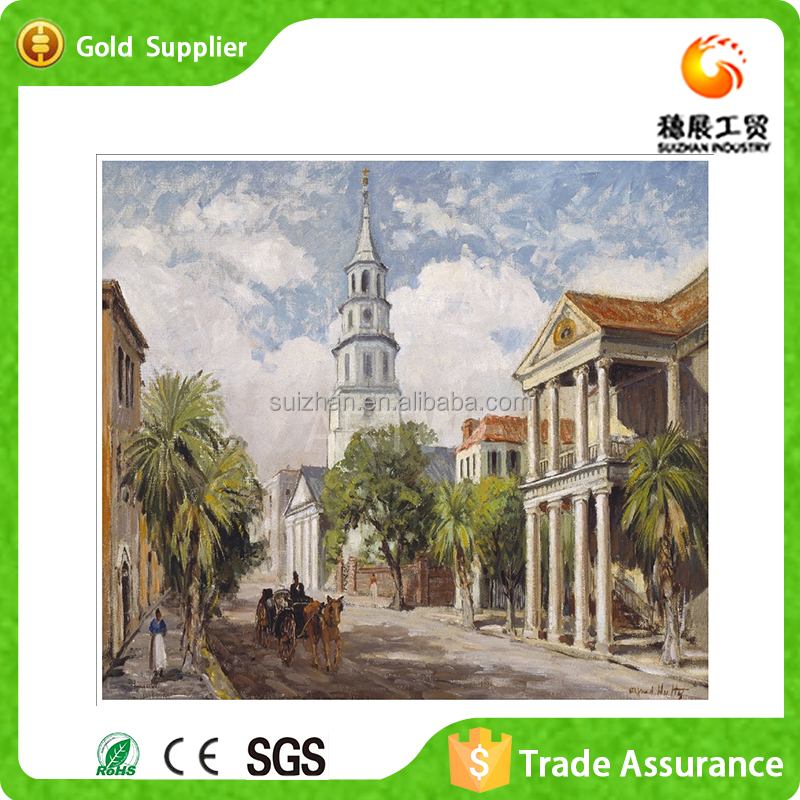 Modern Art Canvas Oil Painting 5D DIY Crystal Diamond Painting The King Street Painting by Number