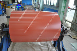 Color coated steel coil and sheet