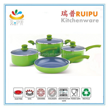 widely used 7pcs trumpet shape cookware energy saving cooking pot korea marble cookware