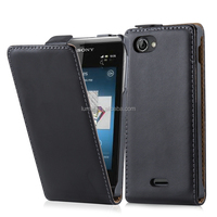Premium PU Leather Wallet Flip Case Cellphone Cover For Sony Xperia J