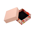 Paper Pink Cardboard Jewelry Box with Filler