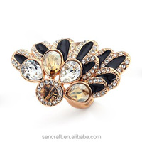 Exaggerated kundan ladies finger gold design fashion ring finger rings photos