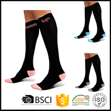 High quality 20-30mmHg graduated sport compression socks
