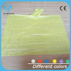 Different colors transparent PE disposable rain poncho