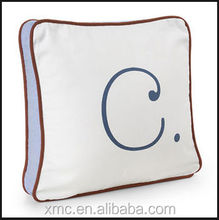 custom factory printed design hot sale popular letter cushion