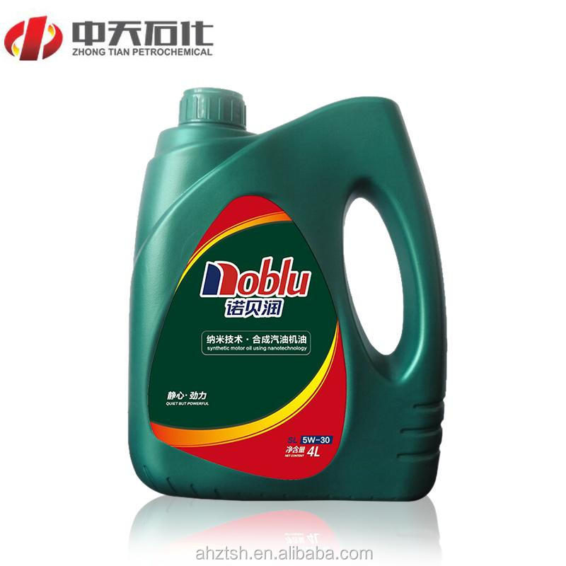 gasoline motor oil for car lubrication SL 5W/30