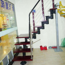Iron Railing Stairs with Steel Stair Stringers