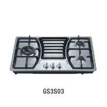 GS3S03 Stainless Steel surface cast iran pan support automatic ignition gas stove indoor