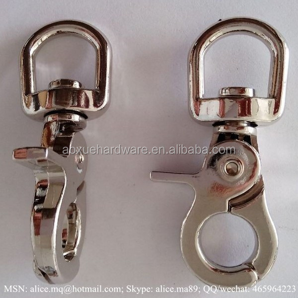 metal swivel clasp keyring snap hook brass color