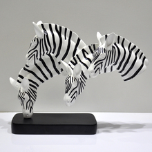 wholesale home decorative zebra animal statues resin craft